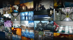 Industrial montage 1 Stock Footage