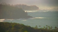 Stock Video Footage of Waves rolling in to tropical coast