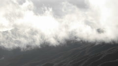 Time lapse of storm clouds clearing over the Santa Ynez Mountains above Ojai Stock Footage