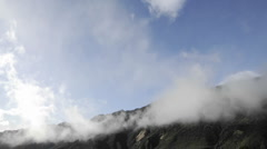 Time lapse of clouds swirling over the Santa Ynez Mountains above Ojai Stock Footage