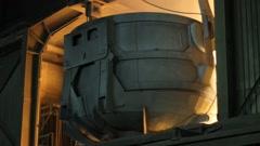 Steel factory - Steelworks 1 Stock Footage