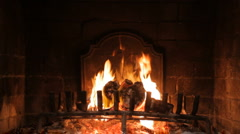 Fireplace Loop - Medium Flame Stock Footage