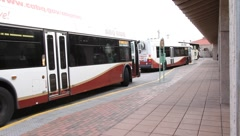 Bus Station 0845 Stock Footage