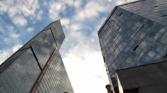Office buildings - stock footage