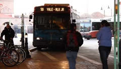Bus Station 0850 Stock Footage
