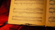Musical Sheet 03 rack focus Stock Footage