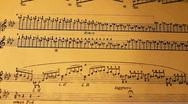 Musical Sheet 08 slide Stock Footage