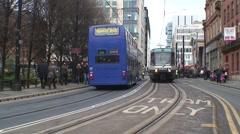 Manchester Metrolink Tram Stock Footage