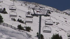 Slow Ski Lift Stock Footage