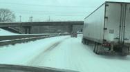 Snowy interstate 03 Stock Footage