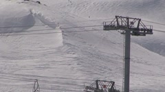 Ski lift Cablecar Stock Footage