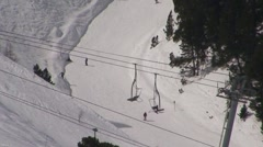Ski lift and ski slope Stock Footage