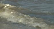 Shoreline ocean water Stock Footage