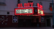 Downtown Albuquerque Movie Theater 0878 Stock Footage