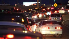 Highway traffic congestion 0888 Stock Footage