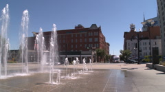 Water Fountains in Nashville (wide) Stock Footage