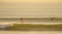 SUP-29,31 sup wave rides Stock Footage