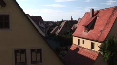Rooftops in Rotenberg (Germany) Stock Footage