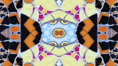 Ceramic tiles gaudi parc guell barcelona Stock Footage