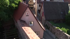 Medieval German Rooftops (with tilt-up) Stock Footage
