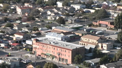 Zoom out from above the urban area on Ventura Avenue in Ventura, California. Stock Footage