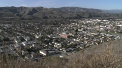 Panning above the urban area on Ventura Avenue in Ventura, California. Stock Footage