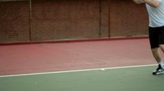 Tennis 05 - footwork and swings Stock Footage