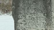 Cemetery 15 Stock Footage