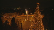 Piazza del Popolo Christmas Timelapse Stock Footage