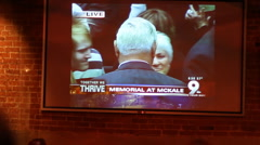 "Reactions of viewers during the ""Together We Thrive"" memorial - 8 - stock footage"