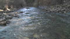 Water flowing in San Antonio Creek in Ojai, California. Stock Footage