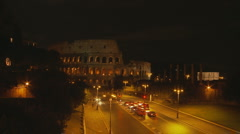 Colloseum Timelapse at night Stock Footage
