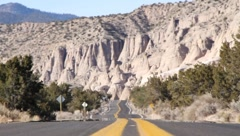 Desert Highway Perpective 1111 Stock Footage