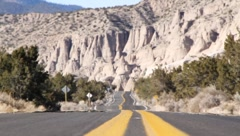 Desert Highway Perpective 1109 Stock Footage