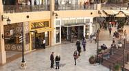 Shopping Mall Outdoors During Holidays Timelapse Stock Footage