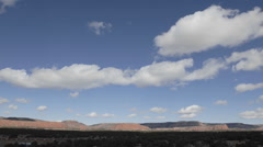 Time lapse of winter clouds in a blue sky over the Continental Divide  Stock Footage