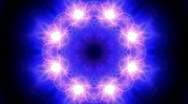 Lotus flower pattern lightning ion collider natural power collider wormhole. Stock Footage
