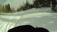 Snowmobile boondock HD 02 Stock Footage