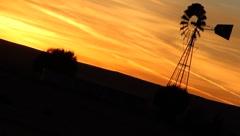 Old Windmill Sunset Stock Footage