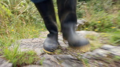Walking in Wellington Boots Stock Footage