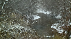 Snowy river 02 - stock footage
