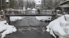 Time lapse of Gore Creek flowing through Vail, Colorado. Stock Footage