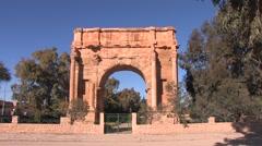 Trajans Arch, Sbeitla,Tunisia Stock Footage