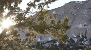 Stock Video Footage of Tent Rock Sunset 1331