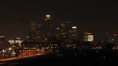 Time lapse of dawn in downtown Los Angeles, California Stock Footage