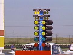 Motorsports, drag racing, timing light  Christmas tree red light, CU Stock Footage