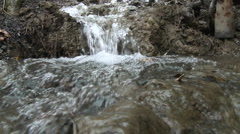 Point of view close up of a small waterfall in Los Padres National Forest  Stock Footage
