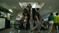 Time lapse Highland Mall Escalator Stock Footage