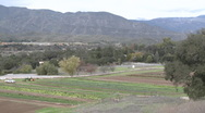 Pan of organic Mano Farms in Ojai, California. Stock Footage