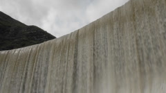 Time lapse of water spilling over Matilija Dam in Ojai, California. Stock Footage